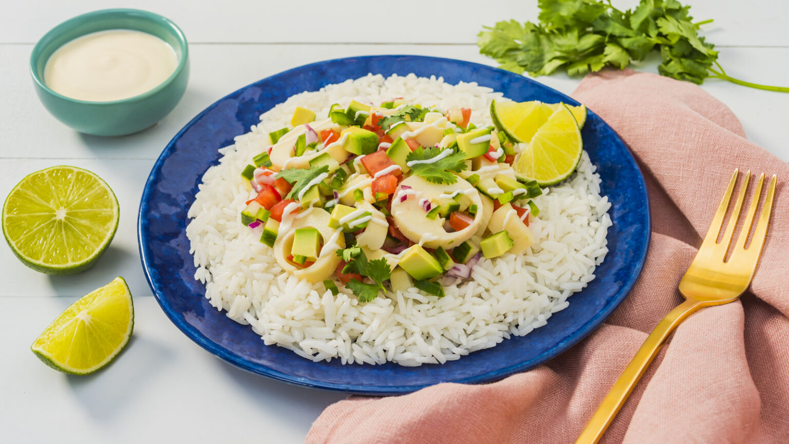 """Hearts of Palm """"Ceviche"""" with Yuzu Mayonnaise"""