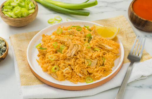 Instant-Pot-Cheese-Buffalo-Chicken-and-Basmati-Rice