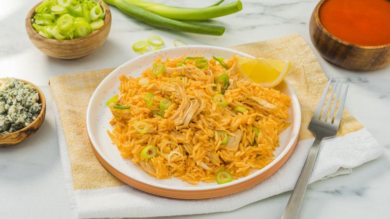 Instant Pot Cheesy Buffalo Chicken Rice
