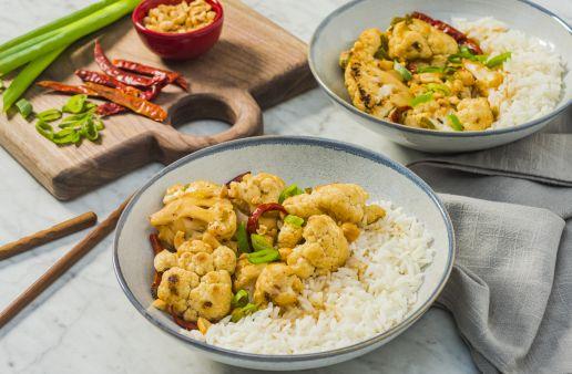 Kung-Pao-Yuzu-Cauliflower-Bowl-with-jasmine-rice