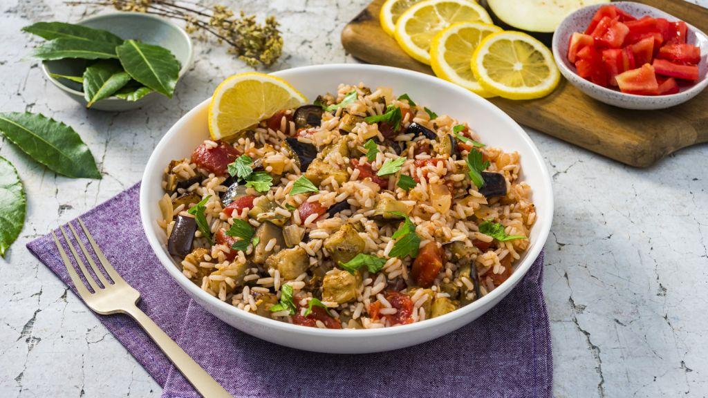 One-Pot-Greek-Eggplant-Rice-Bowl